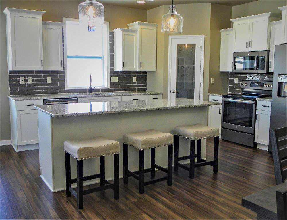 Nick Joski Vinyl Luxury Plank Flooring & Kitchen Backsplash Project